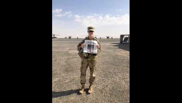 """Servicewoman Emmy Glaze reached out through the Star Herald's Facebook page. """"Thank you to Rock County Star Herald for sending over letters and cards to those that are currently deployed,"""" she posted, along with a photograph."""