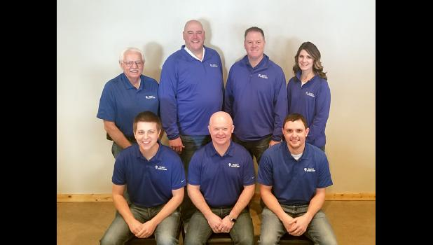 Staff members from the former Exchange State Bank are now Security Savings Bank personnel. Local leaders are (front, from left) assistant vice president Caleb Ellingson, Security Savings Bank President and CEO Tim Plimpton, Luverne mortgage lender Tyler Bush, (back) vice president Don Bryan, Luverne Market President Ryan DeBates, Ellsworth Market President Mark Iveland and Hills Market President Kathy Fick.