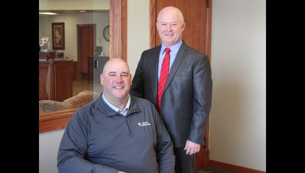 Luverne Market President Ryan Debates (left) and Security Savings Bank president and CEO Tim Plimpton recently sat down with the Star Herald to share background about the family owned banking institutions that now share the same charter.