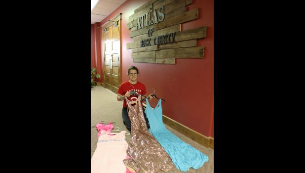 Luverne's Zoe Brown is collecting prom dresses to lend out to area students who otherwise couldn't afford to attend their high school proms. ATLAS of Rock County is providing the drop-off and pickup location for Brown's project.