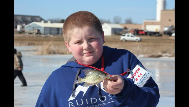 Michael Aning catches a crappie.