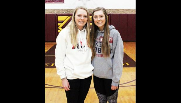 Ellsworth seniors Kallie Chapa (left) and Ashlyn Meester (right) received postseason honors from RRC officials last week.