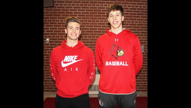 Luverne senior Isaiah Bartels (right) made the 2019-20 All-Big South Conference Western Division Boys' Basketball Team. Junior Bailey Cowell (left) drew one of five honorable mention selections.