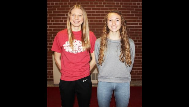 Luverne's Mallory Thorson (left) and Brooklynn Ver Steeg (right) made the 2019-20 All-Big South Conference Western Division Girls' Basketball Team. LHS reached the South Section 3AA title game for the first time.