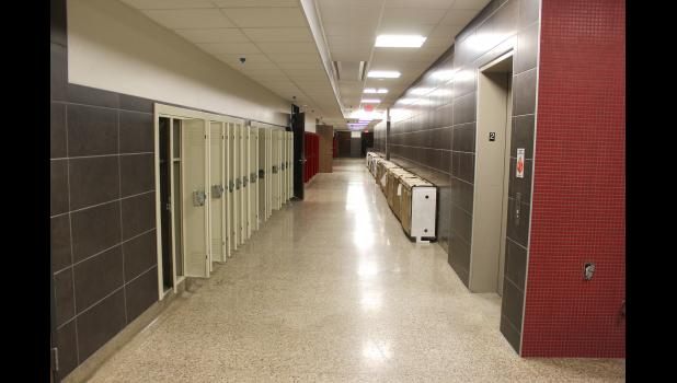 Lockers remain open last week after disinfecting efforts took place in local schools including the newly remodeled wing at the Luverne Middle-High School.