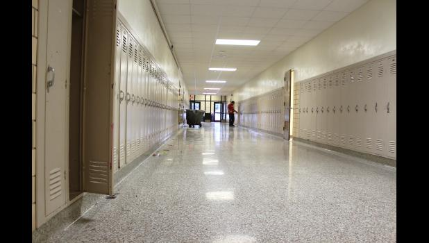 Students cleaned out lockers March 16 as future education was mandated to begin at home on March 30. Luverne Public Schools janitorial staff has cleaned all classrooms, hallways and lockers in an effort to stem the spread of the coronavirus.