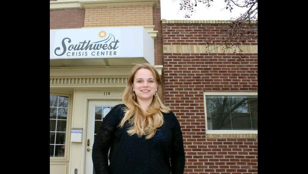 Jen Lindsey is Southwest Crisis Center's new Rock County advocate. She will work full time at the Luverne office's new location on West Main Street in the American Family Insurance building.