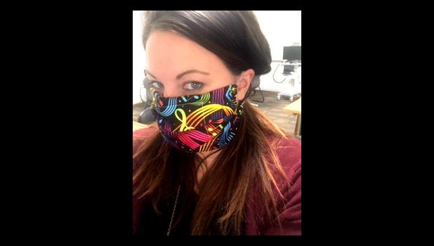 Barb Bork consulted with daughter-in-law Annie Bork, who uses masks at Southwestern Mental Health Center, and they've arrived at one that's comfortable and relatively protective.