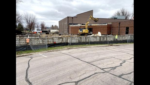 Construction continues on Luverne's pool and fitness center improvement project with footings poured and the former cardio equipment room removed.