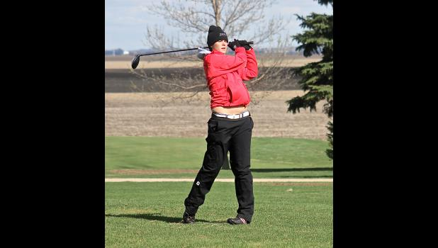 Hailey Remme turned in Luverne's lowest score during a home match against Marshall April 21.