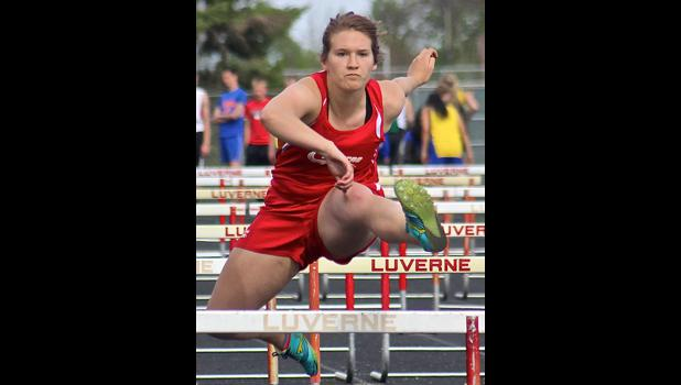 Jaidyn Elbers and the Luverne girls' track team captured the title of the Section 3A True Team Track and Field Championships for the ninth consecutive season Monday in Luverne.