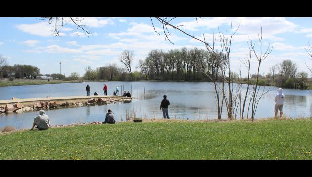 Junior and senior students in H-BC ag classes spent Thursday afternoon, May 6, at The Rez in Hills testing the fishing poles they constructed in class.