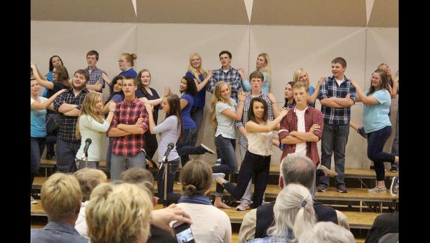 """The high school concert choir wows audience members with their performance of """"Frozen Heart"""" and """"Let It Go"""" from the popular movie, """"Frozen."""""""
