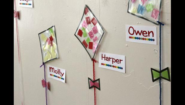 Works of the children in Abbie Behr's day care in Luverne.