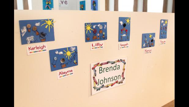 Brenda Johnson's day care artwork.