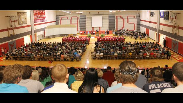 Luverne High School Principal Ryan Johnson opened the Class of 2015 commencement exercises.