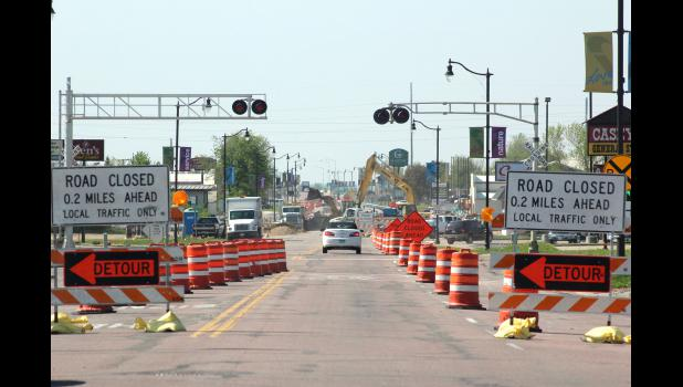 Construction began May 11 on Highway 75 in Luverne and will continue through September.