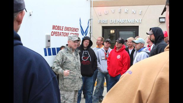 Senior Master Sgt. Rick Larson, 114th Fighter Wing emergency manager, helped develop the vehicle with the National Guard Bureau. He spoke with local officials during Monday night's demonstration at the Luverne Fire Hall.