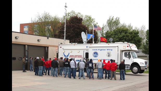 Operators of the 114th Fighter Wing South Dakota Air National Guard Emergency Management office brought their Mobile Emergency Operations office brought their Mobile Emergency Operations Center (MEOC) to Luverne Monday for a demonstration.