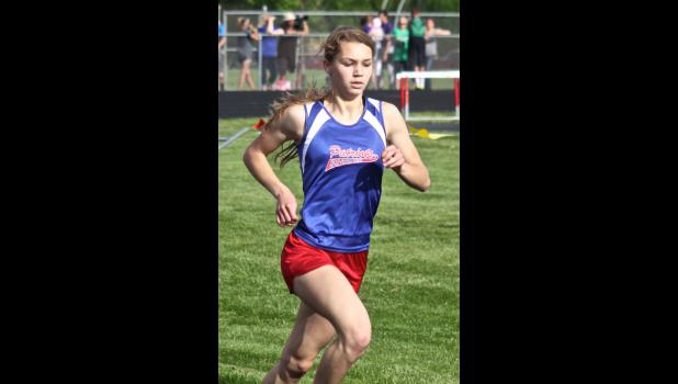 H-BC's Jenna Wilgenburg qualified for state and set a new school record during the 800-meter run Thursday in Luverne.