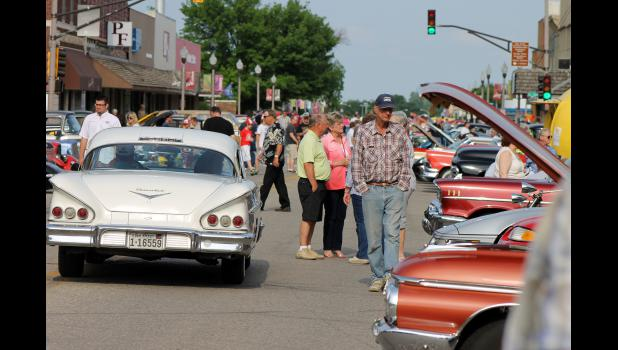 A sunny evening greeted those attending the Buffalo Days Celebration's Cruise-In Friday night, June 5, in downtown Luverne. More than 225 cars and 25 motorcycles were displayed on Main Street.