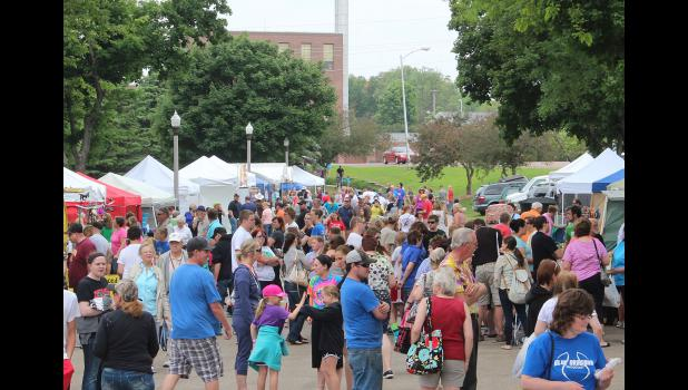 Arts in the Park was a popular spot in Luverne Saturday afternoon for Buffalo Days weekend.