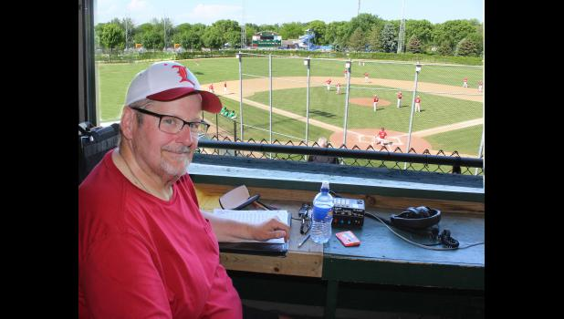June 6 marked the end of 19 years of Luverne Cardinal sports play-by-play for KQAD's Bruce Thalhuber when he announced the Luverne-Paynesville baseball game in Marshall. While the 45-year radio veteran retired from play-by-play announcing, he continues as an on-air personality for the Luverne station.
