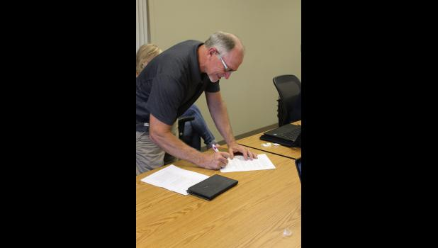 Harley Fransman officially rejoined the Hills-Beaver Creek School Board Monday night in an oath of office ceremony. Fransman previously served on the school board from 2005 until 2018. He'll fill the vacancy through 2021. A special election will take place in November to formally fill the position.