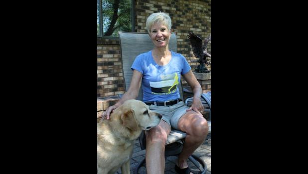 Mary Jo Graphenteen (pictured with dog Miley) announced her retirement at the end of the 2015-16 school year after 36 years as Luverne Public School's health and physical education teacher.