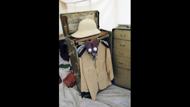 Items inside Teddy Roosevelt's camp included a steamer trunk with period clothing worn by the former president while out on his various exhibitions along with various other items.