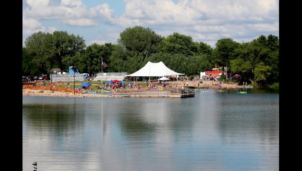 Organizers of Fourth of July events in Luverne estimate roughly 2,000 people came and went from The Lake and nearly 5,000 watched the fireworks display Thursday night.