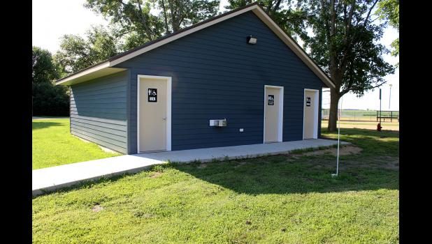The new building at the Ellsworth campground features a men's and women's restroom, a central shower room and a maintenance room.