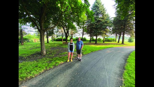 """Maggie Siebenahler and Pat Saum are working with local families and donors to transform a piece of city-owned property in the northwest part of Luverne into a """"Child's Remembrance Garden."""""""