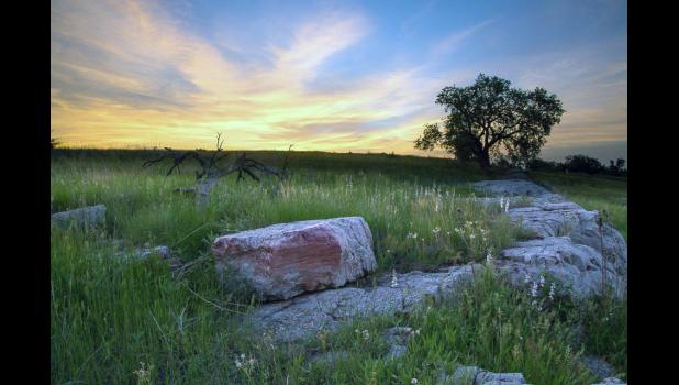 Sunrise at Blue Mounds State Park was captured by Debbie Kippen of Blaine and selected as the June winner of the Prairie Photo Contest. The contest runs each month through October.