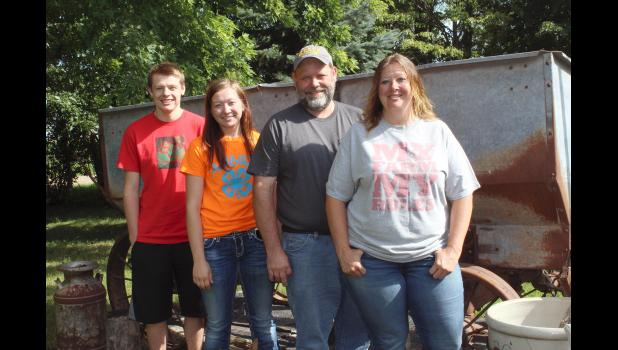 The Severtson family from Kenneth is the 2016 Rock County Farm Family of the Year. Pictured from left are Kristoffer, Andrea, Sterling and Denise.