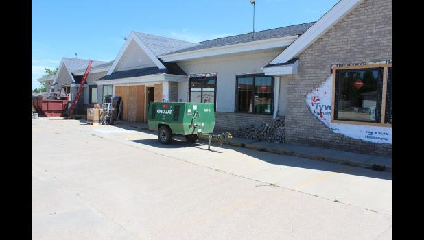 Subcontractors working with Design Craft, Luverne, work to remodel the former Lewis Family Drug building off of Each Main Street for the Southwestern Mental Health Center, which purchased the building in 2013. Staff will move in in October.