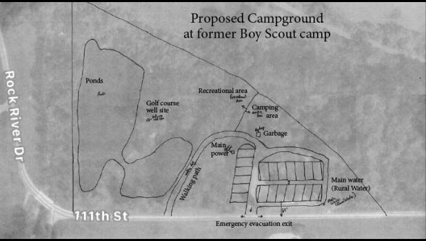 A public campground is approved for a 13-acre parcel southeast of Luverne at the first Boy Scouts campground. Commissioners supported the development pending licensing through the Minnesota Department of Health.
