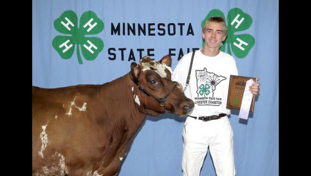 Jacob Raak, reserve champion Aryshire cow.