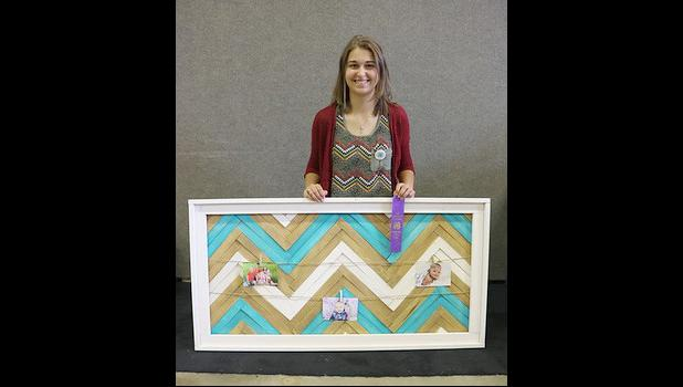 Kaylie Ossefoort, purple ribbon home environment grades 9+.