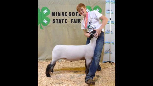Trey Baustian, reserve champion lightweight market lamb.