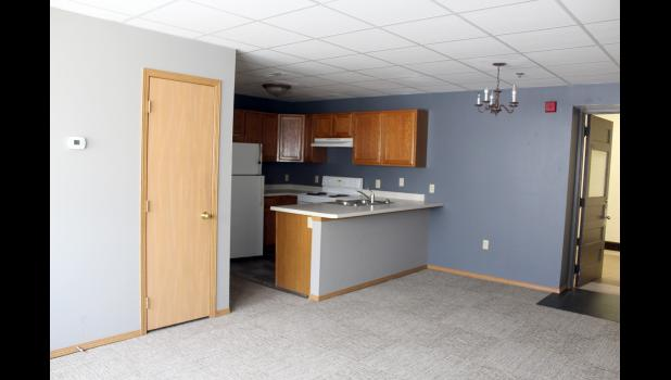 Reconfigured from former classrooms, the City Center Apartments feature a kitchen/living area, a bathroom and the option of one to three bedrooms.