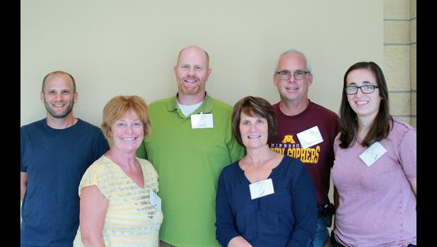Six teachers at Luverne Public Schools attended a BestPrep technology integration workshop this summer in the Twin Cities. Pictured from left are Tony Johnson, Elaine Harms, Tom Lanoue, Jan Olson, Doug Dooyema and April Wallace.