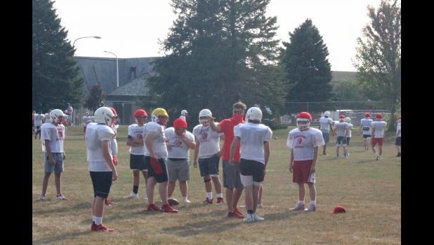 Luverne High School football players practice near the field on Thursday, Sept. 17. They join athletes across the state who will now participate in a fall sports season, according to a state high school league decision.