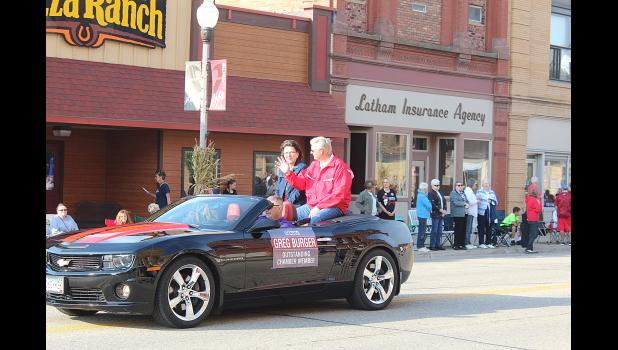 Lola and Tom Haugen were the parade marshals.