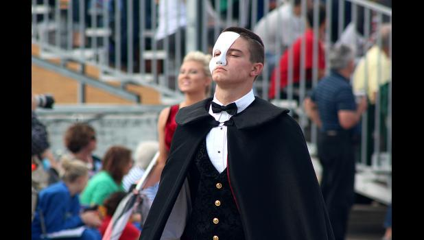 Luverne's Will Mumme is the trumpet soloist in the Cardinal Marching Band field program, 'Phantom of the Opera.'