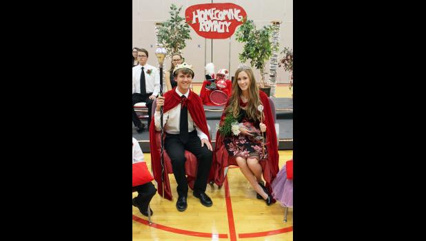 Mark Robinson (left) and Sierra Schmuck were selected as Luverne High School's 2017 Homecoming king and queen.