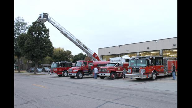 The Luverne Fire Department opened its doors to the public Thursday night, Oct. 9, in celebration of Fire Prevention Week Oct. 5-9. Members of the public were able to explore the department's trucks, equipment and enjoy supper with local firefighters during the two-hour annual open house.