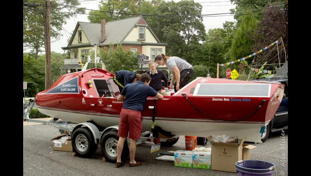 Rowers need to pack 90 days' worth of rations, first aid-kits, and safety equipment for the entire crossing. As the rules state: if they run out of rations and have to ask for extras, they will be disqualified.