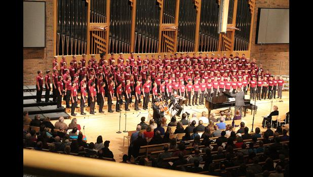 The students rehearsed and performed with seventh- and eighth-grade boys' and girls' honor choirs in Mahtomedi Saturday, Nov. 21, and performed a public concert in St. Andrews Lutheran Church that night.