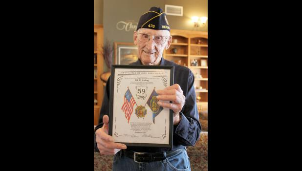 Bill Holling of Luverne is a 59-year member of the Arthur Moeller American Legion Post 478 and is the group's last remaining World War II veteran.